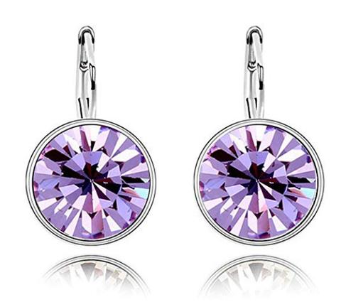 Swarovski Crystall Zoetzl Sırğa - Lilac