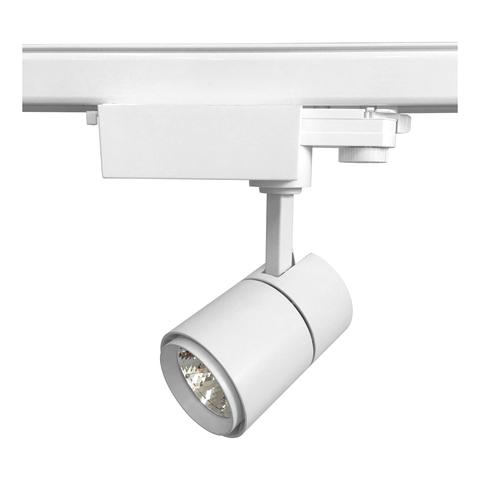 ULB-T52-10W/3000K/H WHITE Светильник-прожектор светодиодный трековый. 900 Лм. Теплый белый свет (3000К). Корпус белый. ТМ Uniel