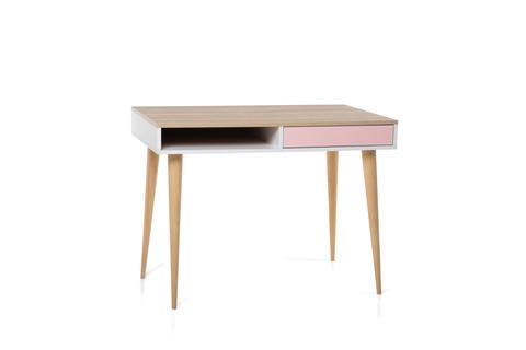 Стол LX 01 розовый-принт