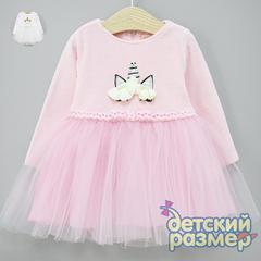 Платье (велюр, сетка)