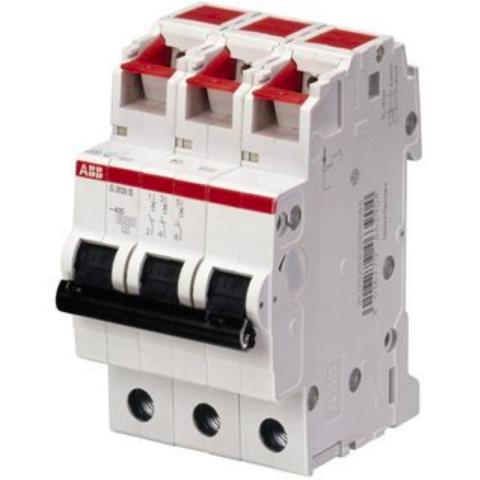 Автоматический выключатель 3-полюсный 6 А, тип C, 6 кА S203S-C6. ABB. 2CDS253002R0064