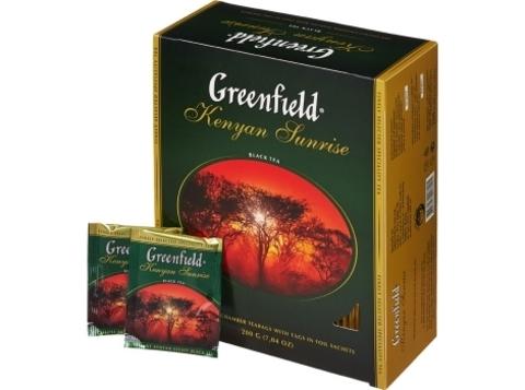 Чай черный Гринфилд Kenyan Sunrise в пакетиках (100 шт)