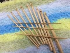Крючки для вязания деревянные №2-8