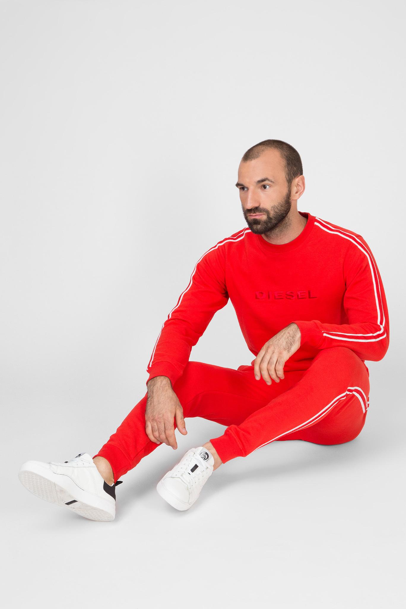 Мужские красные спортивные брюки UMLB-PETER Diesel