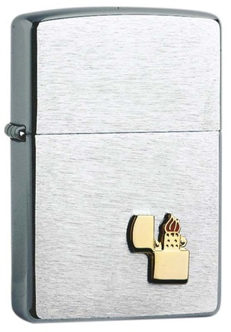 Зажигалка Zippo, латунь/сталь с покрытием Brushed Chrome, серебристая, матовая, 36x12x56 мм123