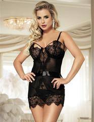 Мини платье черное с кружевом LuLu Lingerie S/M