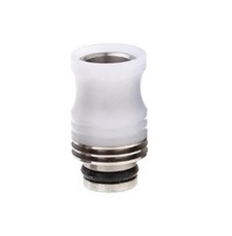 Drip-Tip SS+POM Hybrid 21 мм белый