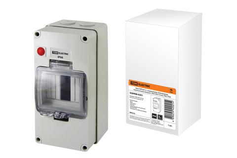 Бокс КМПнИ-4, с индикатором, блокировкой, герметичными вводами, 200х100х110 мм, IP66, TDM