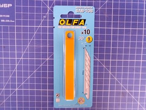 Лезвие OLFA сегментированное для графических работ, 9х80х0,38мм, 10шт