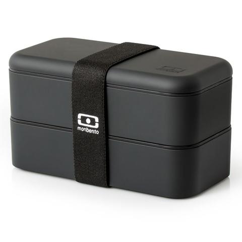 Комплект jungle черный ланч бокс , бутылка и контейнер для горячего