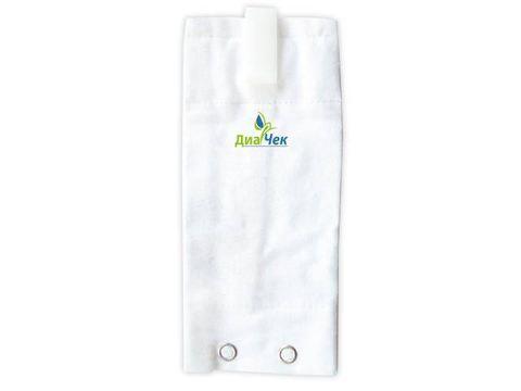 Чехол для ношения инсулинового дозатора  АККУ-ЧЕК Спирит на бюстгалтере белый.