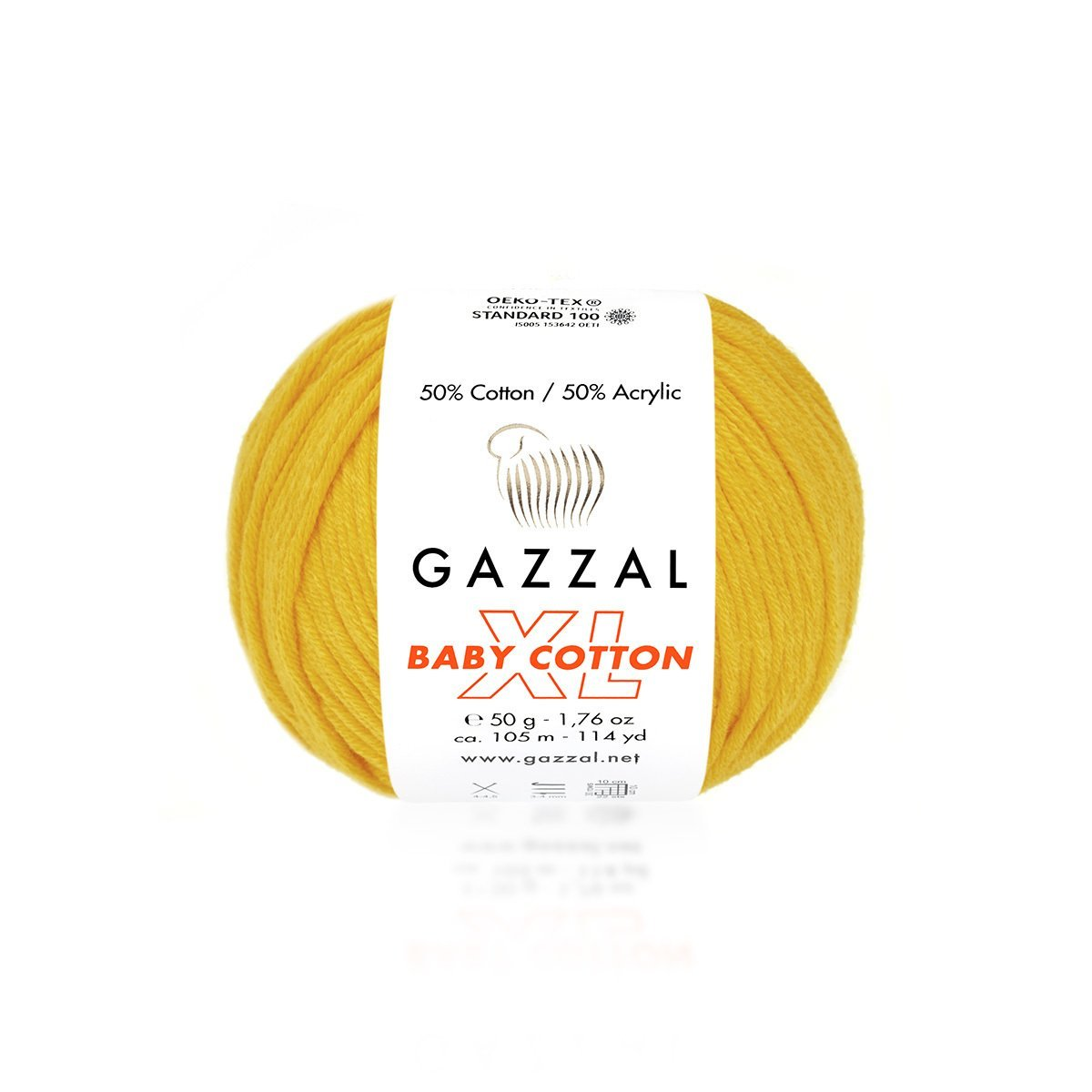Пряжа Gazzal Baby Cotton XL 3417 желток