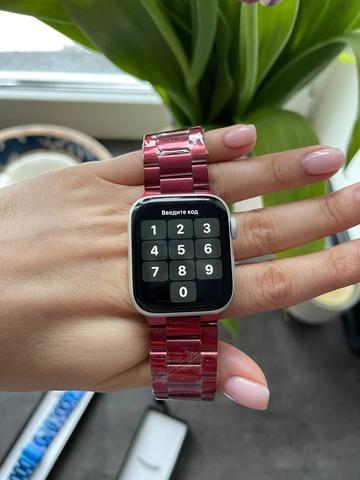 Ремешок Apple watch 38mm Metall old 3-bead /red/