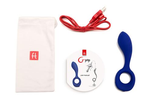 Новинка! Анатомический вибратор для обоих партнёров Gpop - FT London (Fun Toys) - 12,5 см