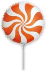 F Мини-круг, Леденец, Конфета-Карамель, Оранжевый, 9''/23см. / 5 шт. /