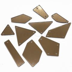 Купить пришивные зеркала оптом 70 штук размер М кофейный цвет Cappuccino