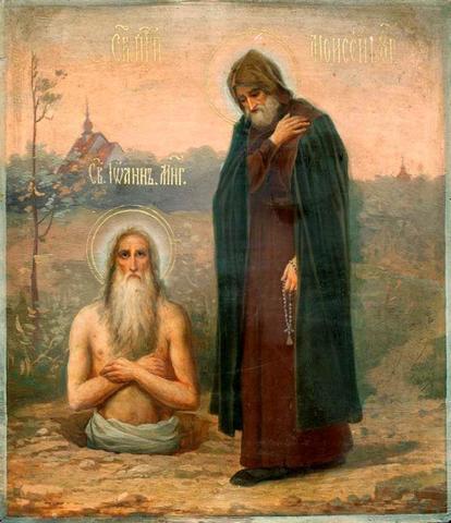 Икона святые Иоанн Многострадальный и Моисей Угрин на дереве на левкасе мастерская Иконный Дом