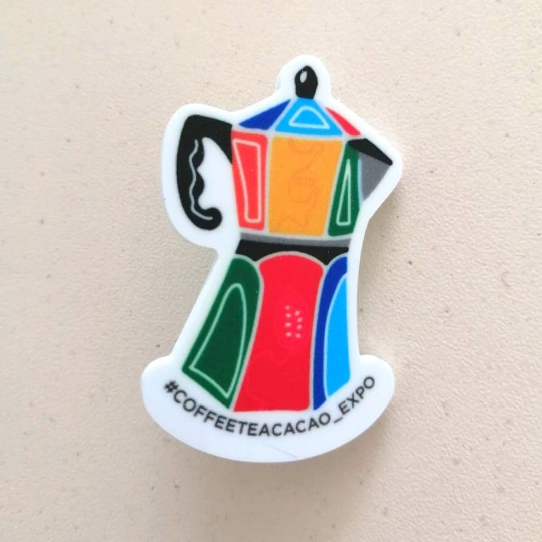 Значок Кофейник (цветной)