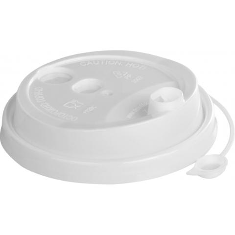 Крышка кофейная 90 мм диаметр из полипропилена белая 50шт/уп(3001 б)