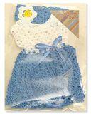 Вязаное платье - в упаковке. Одежда для кукол, пупсов и мягких игрушек.