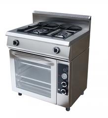 Плита газовая Grill Master с духовкой Ф2ПДГ/600,  800х600х1050  2 горелок 2-я корона