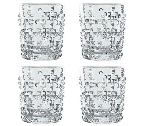 PUNK - Набор стаканов 4 шт. для виски 348 мл хрустальное стекло