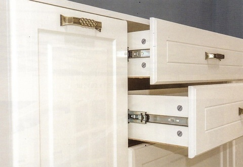 Набор мебели для гостиной Ливерпуль 4 Моби белый/ясень ваниль