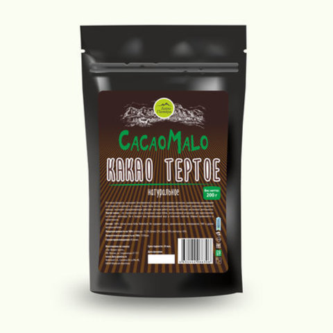 Какао-тертое Эспаньола бобы аромат. сортов 200г Дары Памира