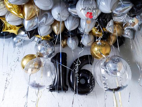 Оформление шарами для мужчины