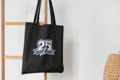 Сумка-шоппер с принтом Тампа-Бэй Лайтнинг (NHL Tampa Bay Lightning) черная 003