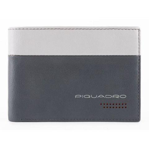 Кошелек мужской Piquadro Urban (PU257UB00R/GRN) серый/черный кожа