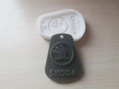 Силиконовый молд  Логотип  Skoda. Брелок