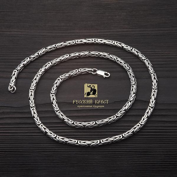 Серебряная цепочка плетение Кардинал.