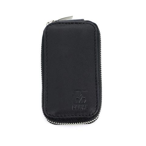 Маникюрный набор Dewal, 3 предмета, цвет черный, кожаный футляр