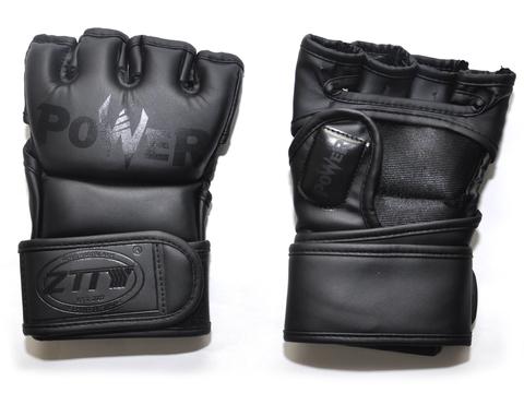 Перчатки для ММА. Цвет: чёрный. Размер L: ZTM-004-Ч-L
