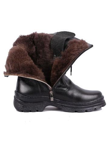 Зимние кожаные сапоги Егерь натуральный мех
