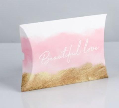 060-0175 Коробка складная фигурная Beautiful love, 11 × 8 × 2 см