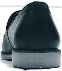 Черные лоферы туфли под брюки мужские Luciano Bellini 91178-E-212 Black.