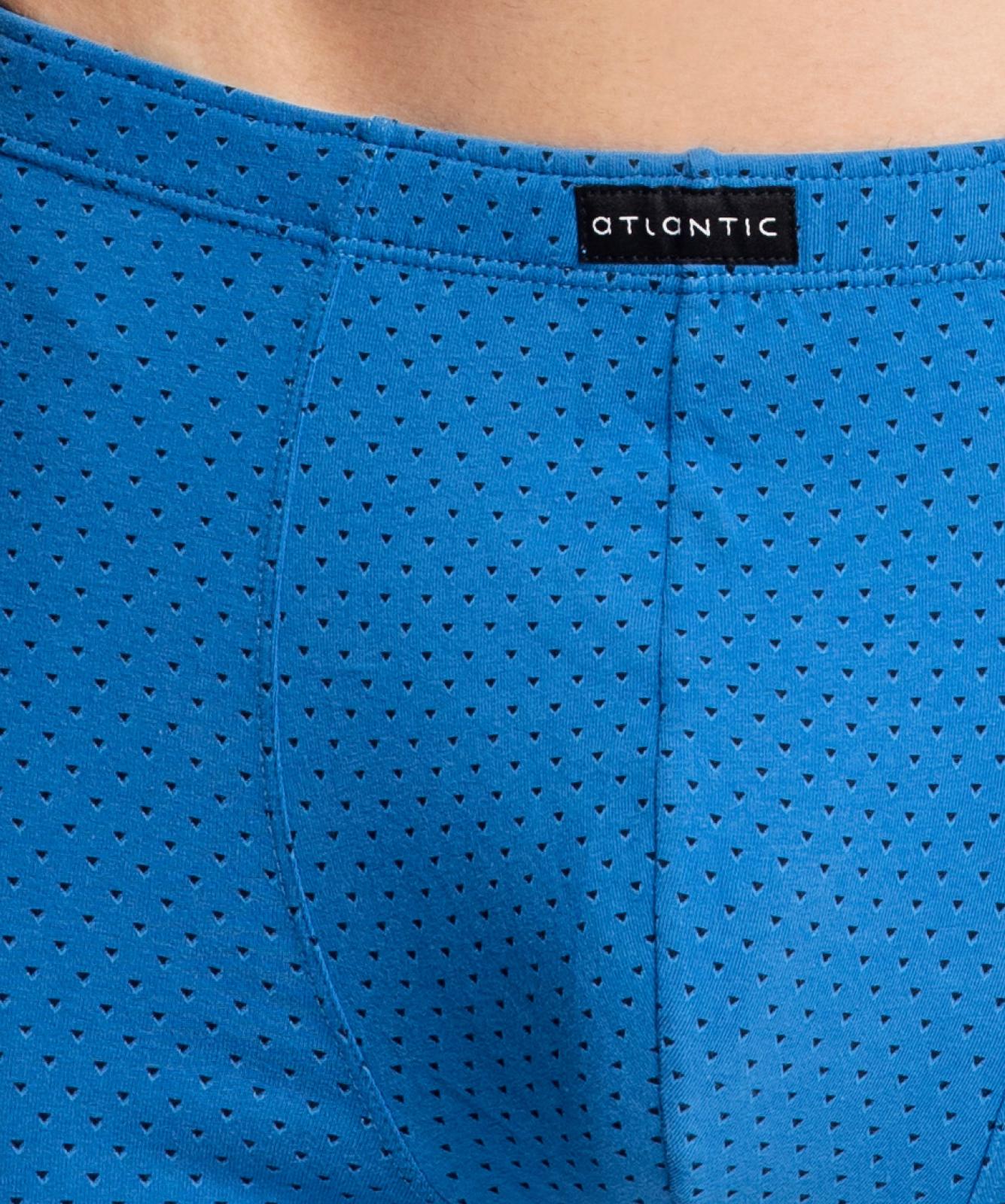 Мужские трусы шорты Atlantic, набор из 3 шт., хлопок, голубые + темно-синие + серые, 3MH-015
