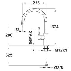 Смеситель TEKA INX 915 - схема