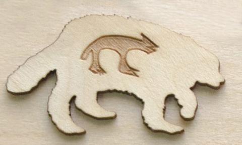 Магнит ДекорКоми на холодильник из дерева Расомаха 10шт