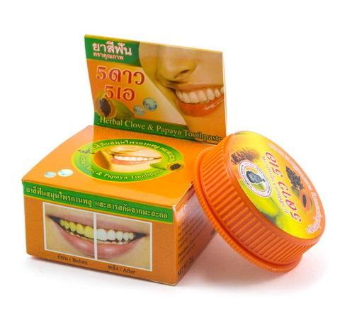 Травяная зубная паста c папайей 5star, 25 гр.