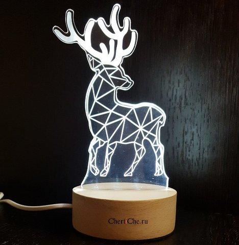3D светильник- Олень
