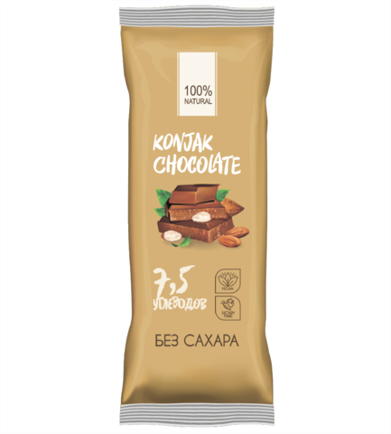 Konjak Chocolate Шоколад без сахара Миндальный
