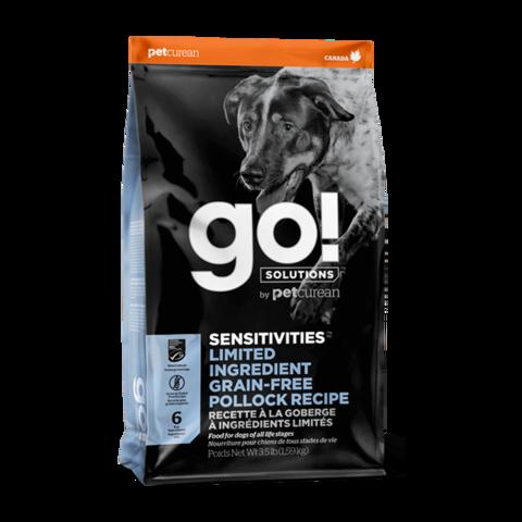Go! Sensitivities Сухой корм для щенков и собак с чувствительным пищеварением с минтаем (беззерновой)