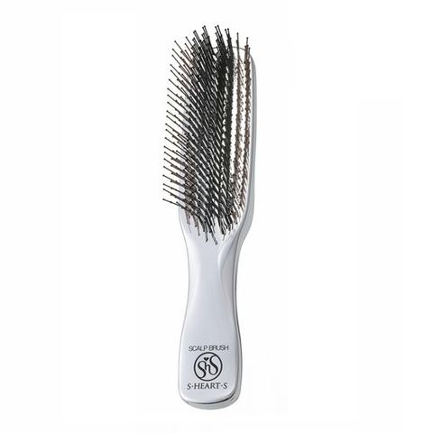 Расческа Scalp Brush Plus c длинной ручкой (серебро)