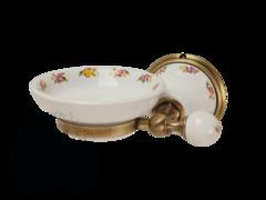 Мыльница настенная Migliore Provance ML.PRO-60.501 керамика с декором