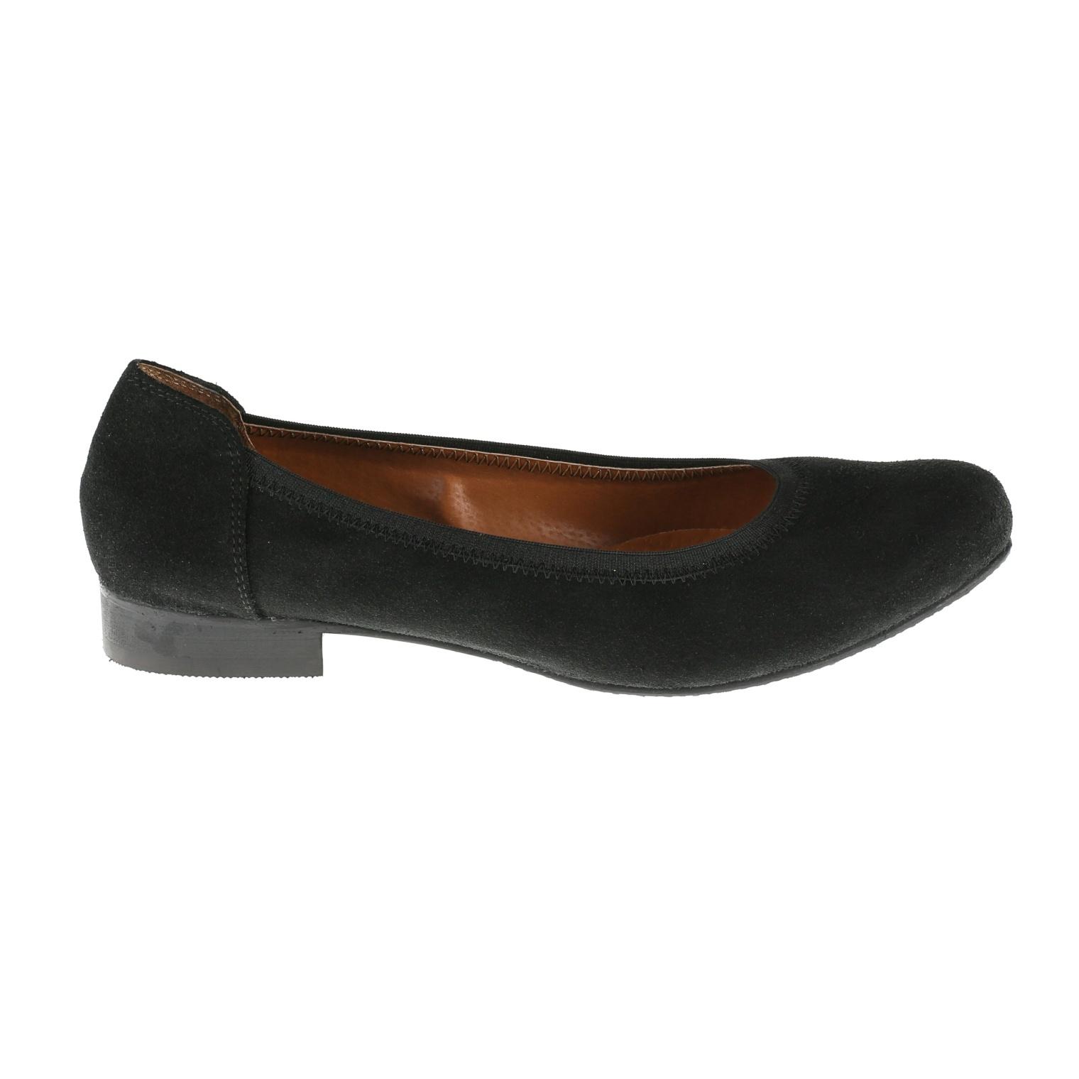 567269 Туфли женские черные замша больших размеров марки Делфино