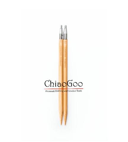 Спицы ChiaoGoo съемные бамбуковые  13 см 6 мм