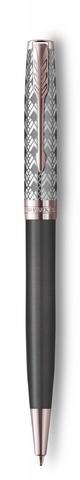 Шариковая ручка Parker Sonnet Premium Refresh GREY, цвет чернил Мblack, в подарочной упаковке